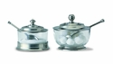 Match Italian Pewter Sugar Bowl with Spoon