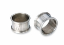 Match Italian Pewter Round Napkin Ring Pair