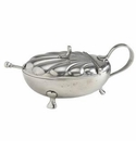 Match Italian Pewter Scallop Condiment Dish with Spoon No Crystal