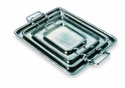 Match Italian Pewter Rectangle Tray with Handles Small
