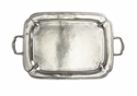 Match Italian Pewter Parma Rectangle Tray with Handles