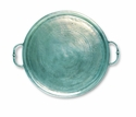 Match Italian Pewter Round Tray with Handles Small