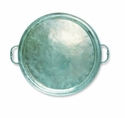Match Italian Pewter Round Tray with Handles Large