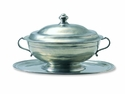 Match Italian Pewter Oval Tray For Tureen