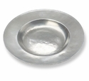 Match Italian Pewter Wide Rimmed Shallow Bowl