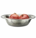 Match Italian Pewter Rimmed Bowl Large