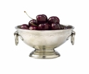 Match Italian Pewter Deep Footed Bowl with Rings Small
