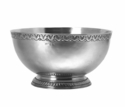 Match Italian Pewter Engraved Rim Deep Footed Bowl