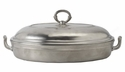 Match Italian Pewter Toscana Pyrex Casserole Dish with Lid Large
