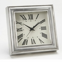 Match Italian Pewter Square Alarm Clock
