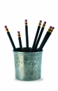 Match Italian Pewter Engraved Pencil Cup
