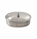Match Italian Pewter Oval Lidded Box Small