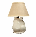 Vietri Tuscan Collection White Crackle Frog Lamp