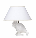 Vietri Modern Collection Lamp White Hen Statue Base