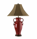 "Vietri Tuscan Red Urn Lamp 29.5"" H 21"" W"