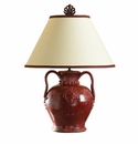 "Vietri Rustic Large Shiraz Red Lamp 26"" H, 19.5"" W"