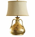 "Vietri Modern Large Gold Lamp 26"" H, 19"" W"
