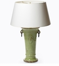 Vietri Rustic Collection Large Pistachio Trumpet Vase Lamp