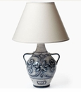 Vietri Tuscan Collection Blu Vittoria Lamp