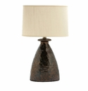 Vietri Modern Collection Metallic Hammered Lamp