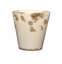 "Skyros Designs 7"" Vintage Garden Pot - White"