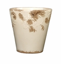"Skyros Designs 8"" Vintage Garden Pot - White"