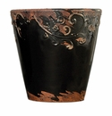 "Skyros Designs 9"" Vintage Garden Pot - Black"