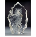 Mats Jonasson Maleras Swedish Crystal Eagle/Owl, Limited Edition
