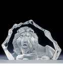 Mats Jonasson Maleras Swedish Crystal Lion, Limited Edition
