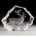 Mats Jonasson Maleras Swedish Crystal Reindeer, Limited Edition