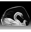Mats Jonasson Maleras Swedish Crystal Swans
