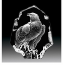 Mats Jonasson Maleras Swedish Crystal Eagle, Hand-Etched