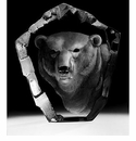 Mats Jonasson Maleras Swedish Crystal Polar Bear's Head