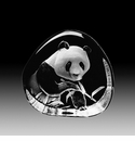 Mats Jonasson Maleras Swedish Crystal Panda