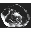 Mats Jonasson Maleras Swedish Crystal Bear Cubs