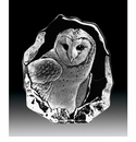 Mats Jonasson Maleras Swedish Crystal Barn Owl