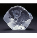 Mats Jonasson Maleras Swedish Crystal Baby Polar Bear
