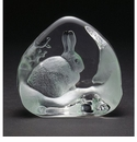 Mats Jonasson Maleras Swedish Crystal Snow Hare