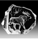 Mats Jonasson Maleras Swedish Crystal Bull Moose
