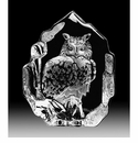 Mats Jonasson Maleras Swedish Crystal Eagle Owl