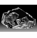 Mats Jonasson Maleras Swedish Crystal Lion Pride