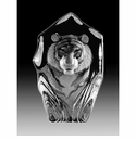 Mats Jonasson Maleras Swedish Crystal Etched Tiger