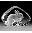 Mats Jonasson Maleras Swedish Crystal Rabbit, Small