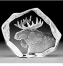 Mats Jonasson Maleras Swedish Crystal Moose Head