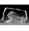 Mats Jonasson Maleras Swedish Crystal Lion at Rest