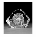 Mats Jonasson Maleras Swedish Crystal Lion Head
