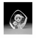 Mats Jonasson Maleras Swedish Crystal Panda and Cub