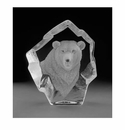 Mats Jonasson Maleras Swedish Crystal Polar Bear, Facing Front