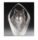 Mats Jonasson Maleras Swedish Crystal Safari Wolf