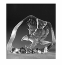 Mats Jonasson Maleras Swedish Crystal Flying Eagle
